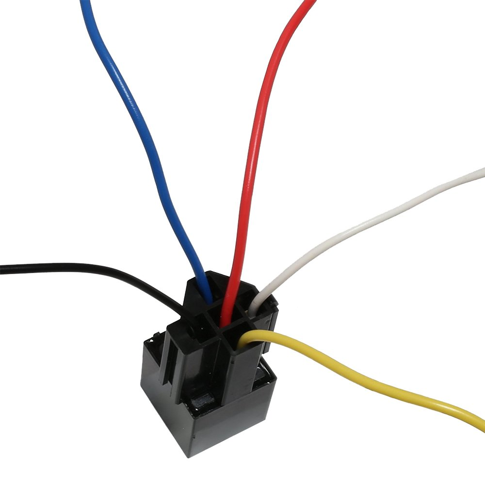 5 Pack 30 40 A Relay Socket Harnesses Pin Harness Spdt Prong Pigtail 40a Automotive And 12v