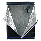 Hydroplanet 60x60x80 Mylar Hydroponic EXTRA-THICK CANVAS Grow Tent for Indoor Plant Growing (60x60x80)