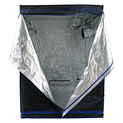 Hydroplanet 60x60x80 Mylar Hydroponic 600D Extra-Thick Canvas Grow Tent for Indoor Plant Growing (60x60x80)