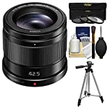 Panasonic Lumix G 42.5mm f/1.7 Power OIS Lens with Tripod + 3 UV/CPL/ND8 Filters + Kit
