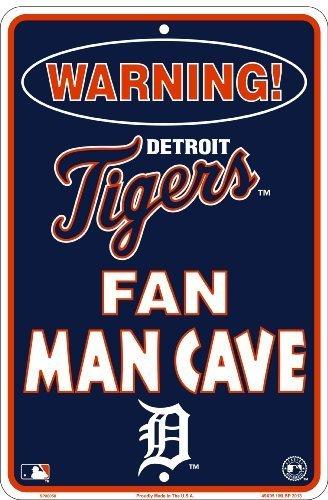HangTime Detroit Tigers Fan Man Cave Sign 8 X 12