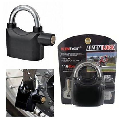 Alarma antirrobo sirena alarma para moto candado cerradura cobertizo seguridad