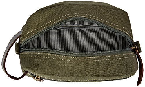 51%2BU7Tk4VBL - Timberland Men's Toiletry Bag Canvas Travel Kit Organizer, Olive, One Size