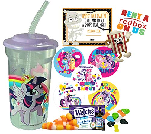 My Little Pony Halloween Redbox Movie Night Fun Sip Favor Cup! Pre-Filled & Ready For Giving! Includes Keepsake Tumbler, Redbox Rental, Popcorn, Candy & -