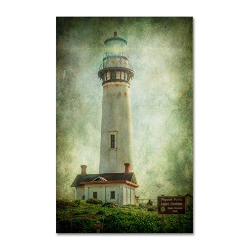 Pigeon Point Light Station Artwork by Erik Brede, 12 by 19-Inch Canvas Wall Art