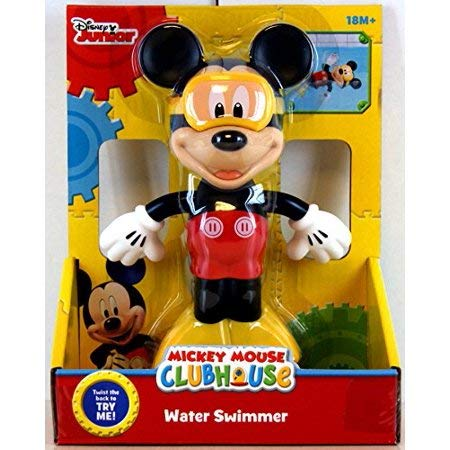 Disney Mickey Mouse Water Swimmer Wind up Bath Pool Toy (Mouse Bath Toys Mickey)