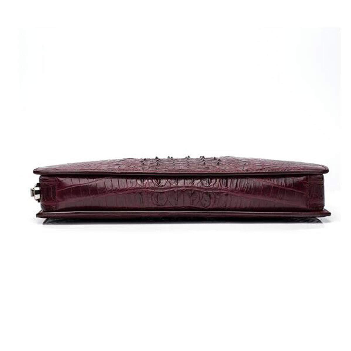 Leather Computer Bag Black Size: 35627cm Mens Handbag Mens Lawyer Bag Kehuitong Briefcase Color : Wine red