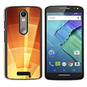 YiPhone /// Prima de resorte delgada de la cubierta del caso de Shell Armor - parasol estrella naranja soleado de verano - Motorola Moto X3 3rd Generation