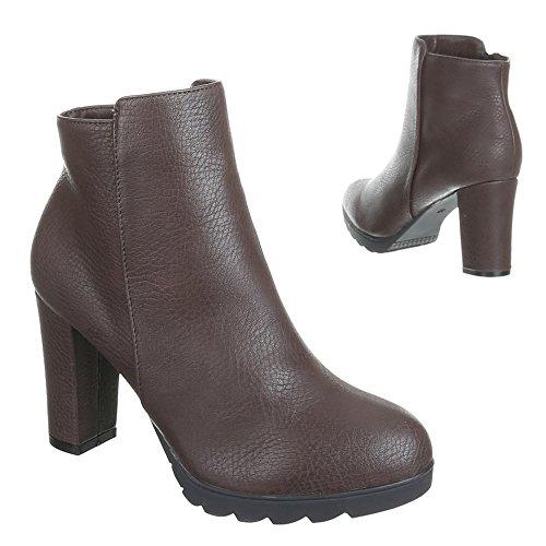 Ital-Design - Botas de Material Sintético para mujer Marrón - marrón