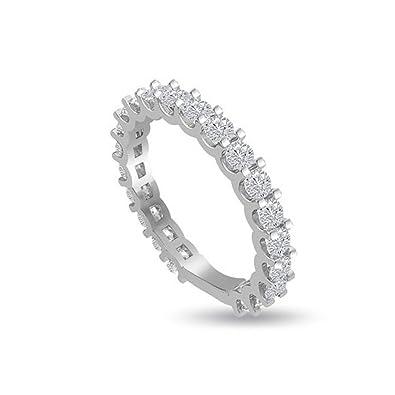 77fda7e3b3 1.05ct G/SI1 Diamant Ewigkeit Memoire Ring für damen mit Runder  Brillantschliff diamanten in