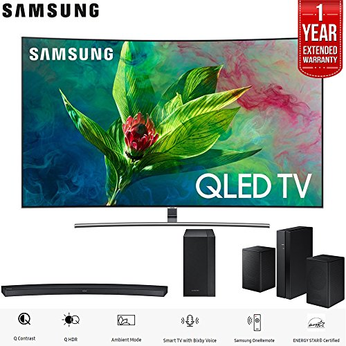 "Samsung 55"" Q7CN QLED Curved Smart 4K UHD TV  with Samsung H"