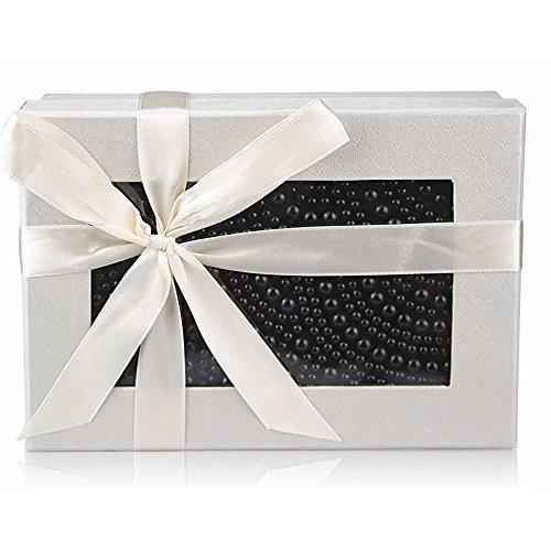 TrendStar - Bolso de mano para mujer, diseño con cuentas de cristal Negro - negro