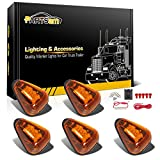 1995 dodge ram 3500 cab lights - Partsam 5x Cab Roof Running Marker Amber Light w/ Amber 9-LED in for 1999 - 2016 Ford E/F+Wiring Pack