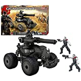 Erector Year 2012 Gears of Wars Series Exclusive 9 Inch Long Vehicle Set - Battle Tank CENTAUR with Large Tread Wheels, Rotating Turret Plus 4 Figures: Marcus Fenix, Augustus Cole and 2 Locust Drones (Total Pieces: 125)