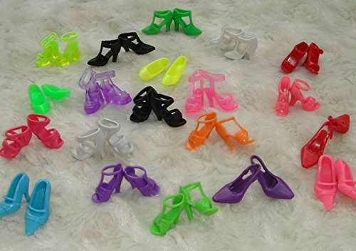 40 Pairs of Shoes 10 Short Skirts + 2 Wedding Dresses Two Combinations, Random Colors +