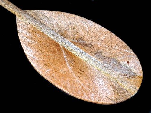(Tikimaster Traditional Mango Paddle - 5.1 FT - Island Decor)