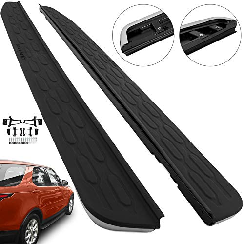 (Mophorn Aluminum Running Board for Land Rover Discovery 5 LR L462 2016-2018 Side Step Black Nerf Bar Pair Set Side Steps 2016 2017 2018)