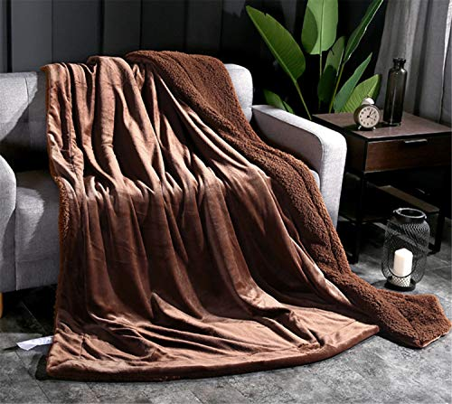 Blanket Solid Color Lamb Cashmere Winter Fall 200230CM 1.7kg Coral Fleece Soft Warm Thickening Home Bed Size Large Double