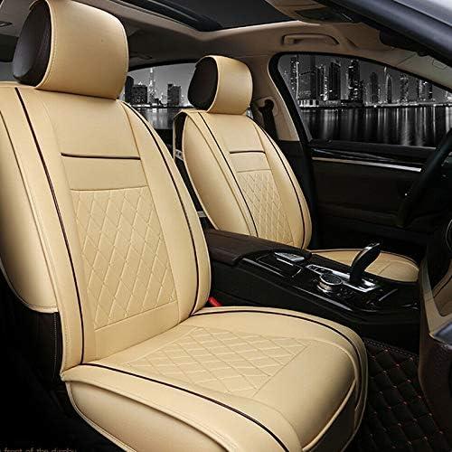 lzndeal Car Seat Cover Front Only Seat Protecteur Housses de Si/ège Avant Voiture Multicolore Coussin Si/ège Universel en Cuir PU Protection Souple Beige
