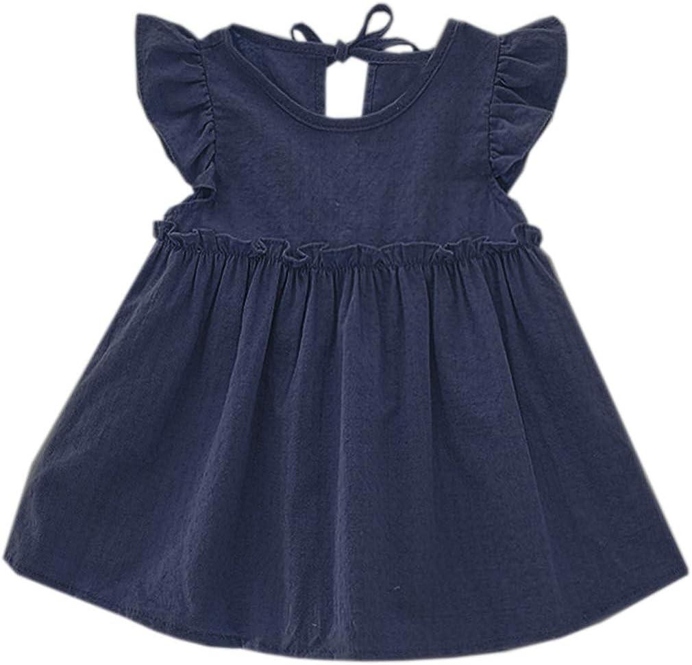 Niyage Toddler Baby Girls Cotton Tunic Dress Swing Casual Sundress Age 1-5