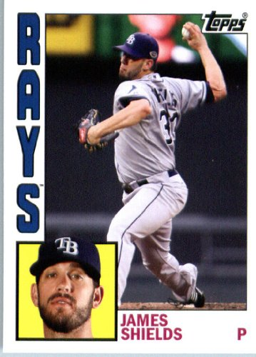 2012 Topps Archives #172 James Shields - Tampa Bay Rays (Baseball Cards)