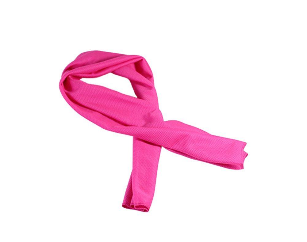 tellm 33* 88cm fría (verano hielo toalla Deportes toalla de toallitas niños antipirético frío, poliéster, rosa (b), 33*88cm poliéster