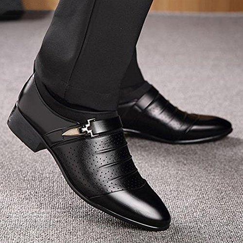 Blivener Heren-schoenen Formele Oxford-slip Op Schoenen Zwart