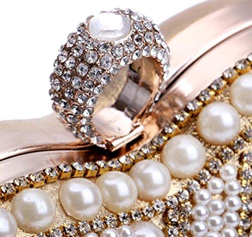 Bandoulière Nuptiale De Prom Clubs Forme Coeur Main De Pochette Pour À Party En Gold Sac Main à Diamante Mariage À Cadeau Soirée Glitter Sac Sac Perlé Dames Femmes xTqHASgng