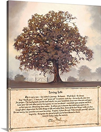 Bonnie Mohr Premium -Canvas Wall Art Print entitled Living Life