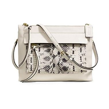 23b4dd7c00d Coach  Madison Felicia  Python Embossed Crossbody Bag Handbag 51192  Parchment