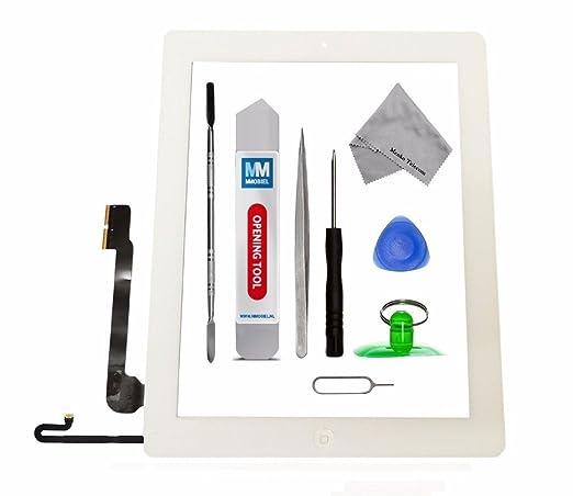 21 opinioni per Schermo tattile di ricambio per iPad 4 Bianco Incl kit con 12 attrezzi / vetro