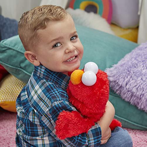 "51%2BUCZ4q7AL - Sesame Street Love to Hug Elmo Talking, Singing, Hugging 14"" Plush Toy for Toddlers, Kids 18 Months & Up"