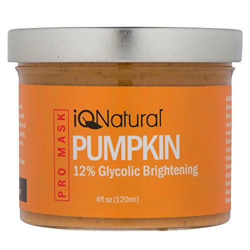 IQ Natural's #1 Exfoliating 12% Glycolic Acid Pumpkin Mask (Spa Quality Facial Peel) [AHA Enzyme] - 4oz