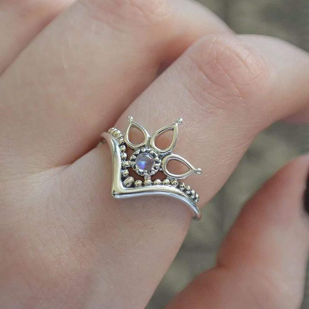 Rainbow Moonstone Silver Ring, Pierre de lune arc-en-ciel, bague Moonstone, argent sterling 925, bague en argent, bijoux faits à la main, taille 44 à 68 FR bijoux faits à la main taille 44 à 68 FR