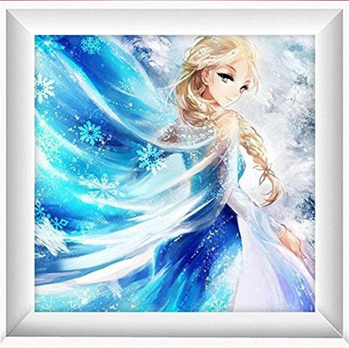 DIY 5D Diamond Painting Set Frozen Princess Diamond Square Diamond Home Decor Cartoon Embroidery Set Wedding Decorations
