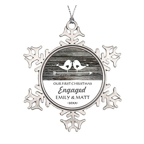 Love Birds Engagement Ornament