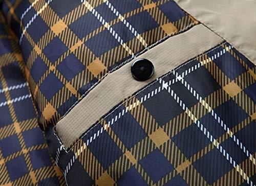 Winter Khaki Warm Hooded Fur TTYLLMAO Faux Mid Men's Parka Length Coats Trim Bw4O66