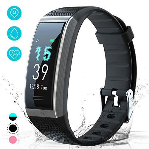 AKASO Fitness Tracker Activity Tracker with Heart Rate and Sleep Monitor Smart Pedometer Watch Calorie Counter Step Counter Fitness Tracker Watch for Kids Women Man (H-BAND3) Black