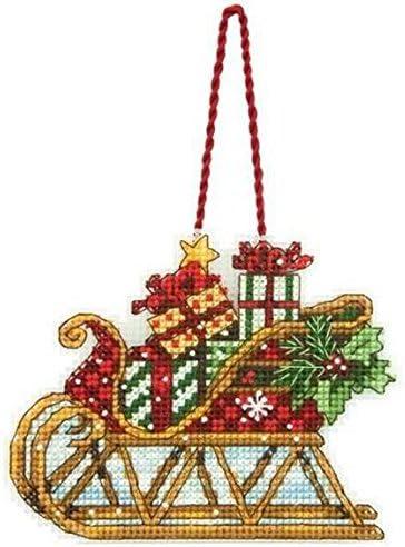 trineo adorno de Navidad para liso Tapestry/de punto de cruz Needlework juego: Amazon.es: Juguetes y juegos