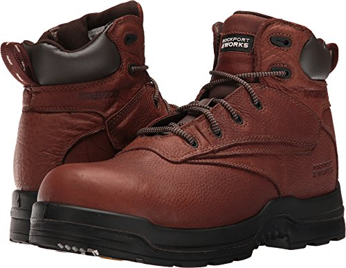 Womens Non Metallic Safety Toe - Rockport Mens Deer Tan WP Leather 6in Work Boots More Energy Comp Toe 15 W