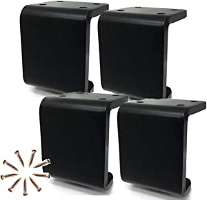 MWPO Set of 4 Furniture Legs,Sofa Legs Metal,Can Hold 1200kg(2654 lbs),DIY Sofa Cabinet Tea Table Cabinet Furniture Hardware Feet,Black (12cm)