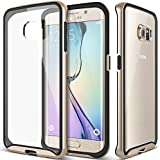 Galaxy S6 Edge Case, Caseology® [Waterfall Series] Scratch-Resistant Cover [Gold] [Clearback Bumper] for Samsung Galaxy S6 Edge (2015) - Gold