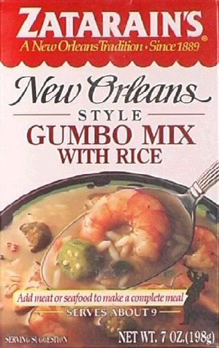 Mix Zatarains Gumbo - Zatarain's New Orleans Style Gumbo Mix with Rice 7 Oz (Pack of 3)