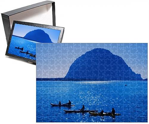 Photo Jigsaw Puzzle Of Kayak Rental And Morro Rock  City Of Morro Bay  San Luis Obispo County