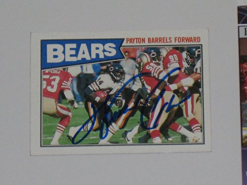 (Walter Payton #34 Chicago Bears HOF Autographed 1987 Topps Football Card #43 JSA COA)