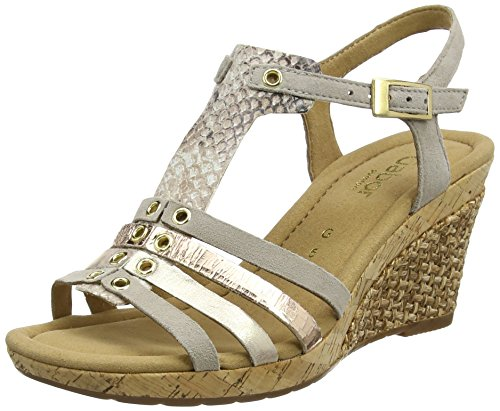 Gabor Women's Comfort Wedge Heels Sandals Brown (Koala K.grata) best store to get cheap price discount in China cheap sale release dates low price cheap price best seller cheap price 8serRBjb