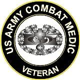 "3.8"" US Army Combat Medic Veteran Decal Sticker"