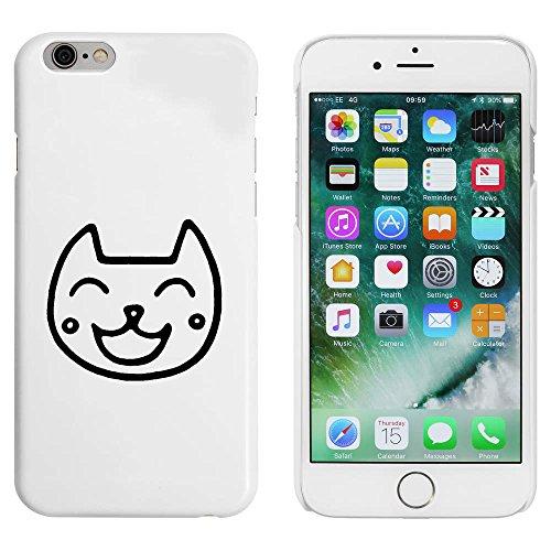 Blanc 'Chat Heureux' étui / housse pour iPhone 6 & 6s (MC00085801)