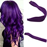 Easyouth 14' PU Tape In Extensions Popular Multi-Colors Purple Color Premium Remy Human Hair Extensions 10 Pcs 25g Silky Straight Human Hair Tape On Hair Extensions