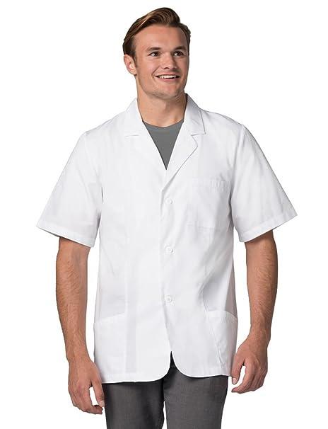 Adar Uniforms Bata Médica de Laboratorio Unisex Para Doctores y Científicos: Amazon.es: Ropa y accesorios